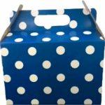 PARTY BOXES POLKA DOT DARK BLUE
