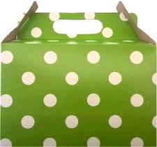 PARTY BOXES POLKA DOT LIME GREEN