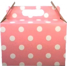 PARTY BOXES POLKA DOT LIGHT PINK