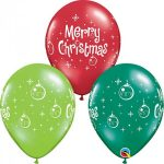 11 INCH LATEX AST MERY XMAS ORNAMENTS
