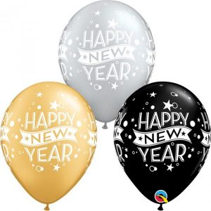 11 INCH LATEX AST NEW YEAR CONFETTI DOTS