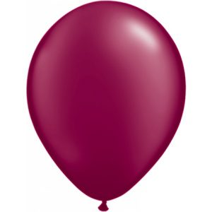 11 INCH LATEX RND PRL BURGUNDY
