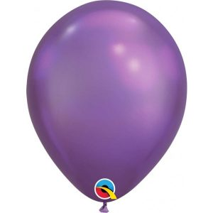 11 INCH LATEX RND CHROME PURPLE