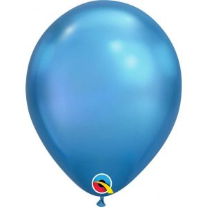 11 INCH LATEX RND CHROME BLUE