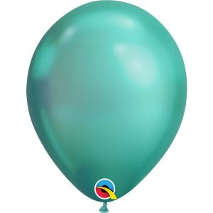 11 INCH LATEX RND CHROME GREEN