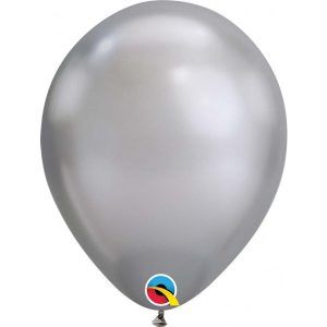 11 INCH LATEX RND CHROME SILVER