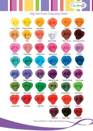 Gel food colouring 21G