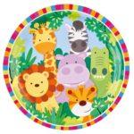 PL:Jungle Paper Plates 23cm 8