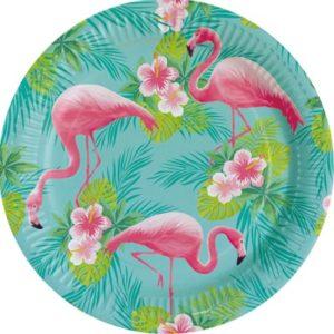 PL:Flamingo Paradise Paper Plates 23cm 8
