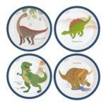 PL:Happy Dinosaur Paper Plates 23cm 8