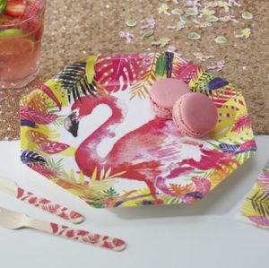 Flamingo Fun – Paper Plates