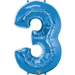 34 INCH FOIL NUMBER 3 SAPPHIRE BLUE 1CTP
