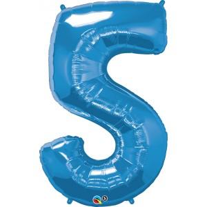 34 INCH FOIL NUMBER 5 SAPPHIRE BLUE 1CTP