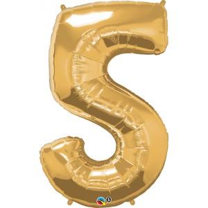 34 INCH FOIL NUMBER 5 METALLIC GOLD 1CTP