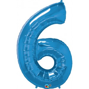 34 INCH FOIL NUMBER 6 SAPPHIRE BLUE 1CTP