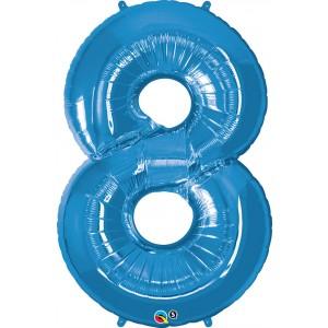 34 INCH FOIL NUMBER 8 SAPPHIR BLUE 1CTP