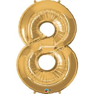 34 INCH FOIL NUMBER 8 METALLIC GOLD 1CTP