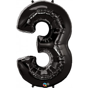 34 INCH FOIL NUMBER 3 ONYX BLACK 1CTP
