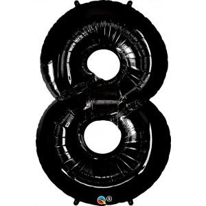 34 INCH FOIL NUMBER 8 ONYX BLACK 1CTP