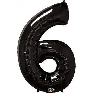 34 INCH FOIL NUMBER 6 ONYX BLACK 1CTP