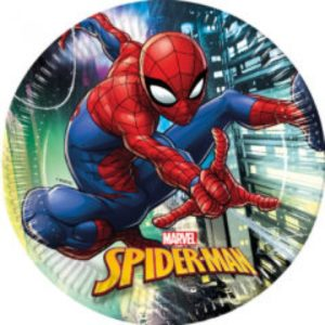 SPIDERMAN TEAM UP PAPER PLATES LARGE 23CM 8CT