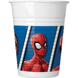 SPIDERMAN TEAM UP PLASTIC CUPS 200ML 8CT