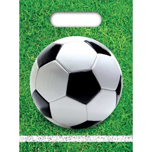 FOOTBALL PARTY PARTY BAGS 6CT