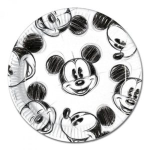 MICKEY FACES PAPER PLATES LARGE 23CM 25CT