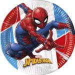 SPIDERMAN SUPER HERO IND COMPOSTAB PLATES 23CM 8CT