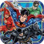 Justice League Dinner Plates – 23cm Paper Party Plates – Justice League Party