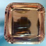 """Rose gold 7"""" square plate 10pc"""
