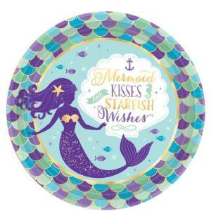 Mermaid Wishes Plates – Mermaid Party Supplies