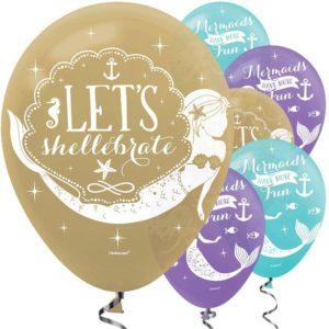 Mermaid Wishes Latex Balloons – Mermaid Party Supplies
