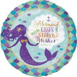 Mermaid Wishes Foil Balloon – Mermaid Party Supplies