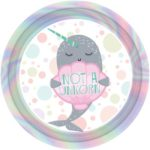 PL:Narwhal Paper Plates 23cm 8