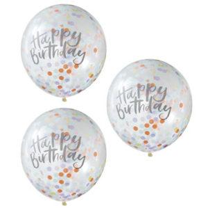 Pastel Party – Confetti Balloons – Happy Birthday