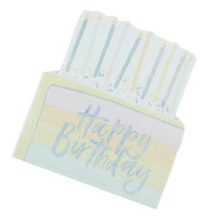 Pastel Party – Birthday Cake Paper Napkins