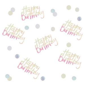 Pastel Party – Happy Birthdya Iridescent Table Confetti