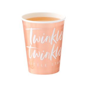 Twinkle Twinkle – Rose Gold Foiled Paper Cups