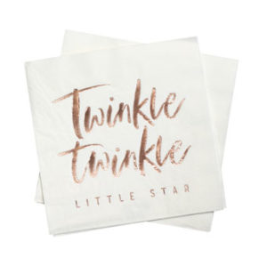 Twinkle Twinkle – Rose Gold Foiled Paper Napkins