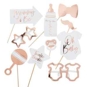 Twinkle Twinkle – Rose Gold Baby Shower Photo Booth Props