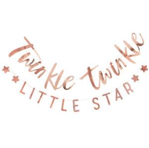 Twinkle Twinkle – Rose Gold Twinkle Twinkle Little Star Baby Shower Bunting