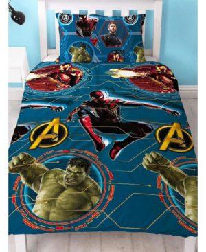 Avengers Marvel Duvet – FORCE – Avengers Bedding – Single