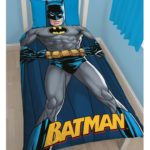 Batman Shadow Single Duvet Cover And Pillowcase Set – Batman Bedding