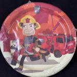 Fireman paper plates 10pc
