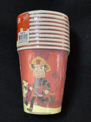 Fireman paper cups 10