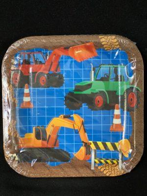 Construction Plates Kids 23cm 10pc