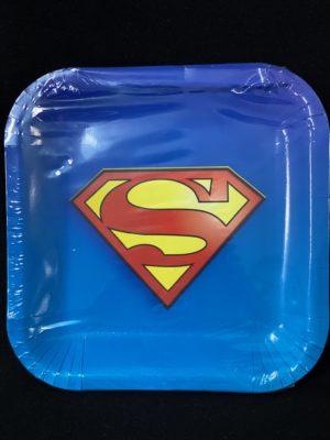Superman Plates 23cm 10Pc