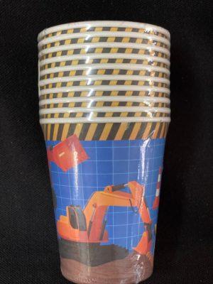 Construction Cups Kids 10pc