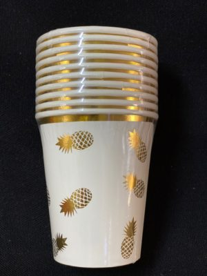 Pineapple cups gold 10pc
